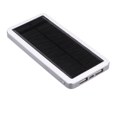 Dual USB Solar Charger Power Bank 12800mAh Portable Charger Solar Battery External Phone Charger for iPhone iPad White