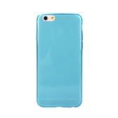Ultra Thin TPU Transparent Phone Protective Case Back Cover for Apple iPhone 6 Blue