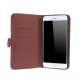 Fashion Card Holder Wallet Leather Case Flip Stand Cover for iPhone 6 Plus Brown