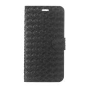 """磁気反転テクスチャ PU レザー ケース ハード PC バック カバー肌ポーチ超スリム用カード スロット アップルの iPhone 6 プラス 5.5""""ブラック"""