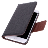 "Luxury Flip PU Leather Hard Wallet Case Cover Textured Grain Pouch Stand Folded Magnetic Clip for Apple iPhone 6 Plus 5.5"" Inches"