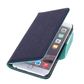 "Luxury Flip PU Leather Hard Wallet Case Cover Textured Grain Pouch Stand Folded Magnetic Clip for Apple iPhone 6 4.7"" Inches"