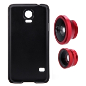 3-in-1 Phone Photo Lens 180° Fisheye 0.67X Wide Angle 10X Macro Set with Case for Samsung Galaxy S5