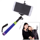 Portable Extendable Cable Selfie Handheld Monopod Stick Holder for iPhone 4S 5 5S 5C 6 6 Plus Samsung Smartphone
