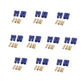 10 Pairs EC5 Device Connector Plug for RC Car Plane Helicopter Multi-Copter Lipo Battery ESC Motor Part (EC5 Plug,Lipo Battery ESC Motor Plug)