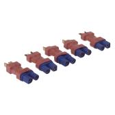 GoolRC 5 Pcs Deans Style EC3 Male to T Plug Male Connector (EC3 Male to T Plug Male,EC3 Male,T Plug Male)