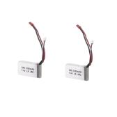 2Pcs Wltoys A949 A959 A969 A979 K929 1/18 Rc Car Spare LiPo Battery 7.4V 1200mah 25C JST Plug