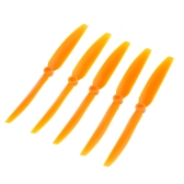 5Pcs 8060 8*6 Spare Orange Propeller Prop for RC Airplane Aircraft