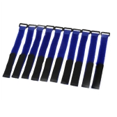 10 Pcs Strong RC Battery Antiskid Cable Tie Down Straps 26*2cm Blue