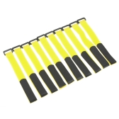 10 Pcs Strong RC Battery Antiskid Cable Tie Down Straps 26*2cm Yellow