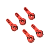 5 Pcs 25T M3 Metal RC Servo Arm Horn Red for Futaba Savox Xcore HL HSP HD Power