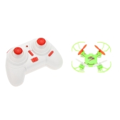 Wltoys V646 2.4G 4CH 6-axis Gyro Nano-sized Headless Mode RC Quadcopter Mini UFO w/ Propeller Protector Green/Yellow