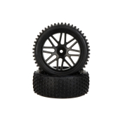 2Pcs High Performance 1/10 Off-Road Car Rear Wheel Rim and Tire 66041 for Traxxas HSP Tamiya RC Car