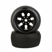2Pcs RC 1/8 Truck Car Wheel Rim and Tire 810011 for Traxxas HSP Tamiya HPI Kyosho RC Car