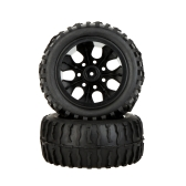 4Pcs High Performance 1/10 Off-Road Car Wheel Rim and Tire 8020 for Traxxas HSP Tamiya HPI Kyosho RC Car