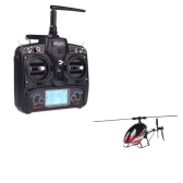 Walkera New V120D02S 2.4G 6 Axis System 6CH 3D RTF Flybarless RC Helicopter Red w/ DEVO 7 Transmitter Model 2 (Walkera 6CH 3D Helicopter;V120D02S Flybarless Helicopter; DEVO 7 Transmitter)