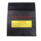GoolRC RC LiPo Battery Safety Bag Safe Guard Charge Sack 23 * 18 cm Black (LiPo Battery Safety Bag,LiPo Guard)