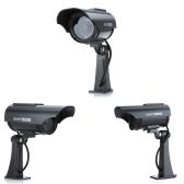 Waterproof Solar Powered Fake/Dummy Security Camera with LED Light Indoor Outdoor