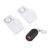 Wireless Remote Control Home Security Entry Alarm Warning System with Magnetic Sensor for Door Window 1 to 2