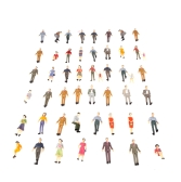 50pcs G Scale 1:30 Mix Painted Model People Train Park Street Passenger Figures