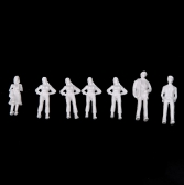 100pcs OO Scale 1:75 White Model People Unpainted Train Figures