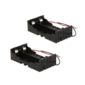 2Pcs Battery Storage Case Box Holder for 2×18650 Parallel Lithium Battery