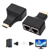 New Fashionable 30M HDMI Dual RJ45 CAT5E CAT6 1080P HDMI Extender Repeater  for HDTV HDPC PS3 STB