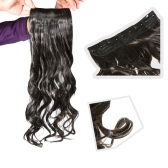 long curl/curly/wavy hair wigs clip-on black