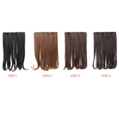 Fashion Female 5 Clips Holder Pear Hair Hook in Volume Synthetic Hair Extensions Long Curly Wig