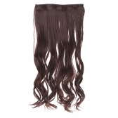 5Clips in on Wavy Curl Synthetic Hairpieces Slice Hair Extension Ponytail High Temperature Fiber