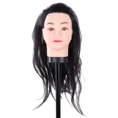 Hairdressing Training Practice Head Long Hair Black Dummy Model Mannequin Cut
