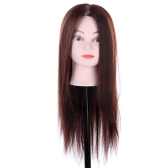 Long Synthetic Hair Hairdressing Training Head Dummy Model Mannequin Cut for Salon Practice with Clamp