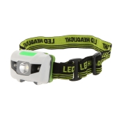 3W Mini White LED Headlight Headlamp 3 Modes 2LED Red Flashlight Hiking Camping Night Fishing Riding Cycling