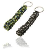 2pcs Paracord Parachute Cord Emergency Survival Tool Knot Keychain Key Ring