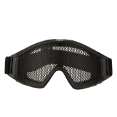 Adjustable Belt Goggles Lightweight Anti-fog Shock Resistant Eye Protection Metal Mesh Glasses for Airsoft Games Sports