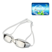 Fashion Unisex Water Sportswear Anti-fog UV Shield Protection Waterproof Eyewear Goggles Swimming Glasses with Ear Plugs Dual Head Straps