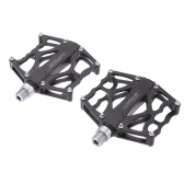 Pair Bike Mountain Bicycle Road Cycling MTB BMX Pedals Sealed Bearing Flat Platforms Aluminium Alloy Lightweight Durable Corrosion Resistance