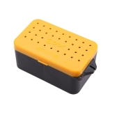 10 * 6 * 4.8cm Cool Fishing Baits Box Earthworm Worm Lure Storage Case Multi-Function Fishing Tackle Box Double Layer