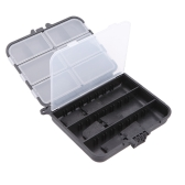 LEO Portable Fishing Lure Box Spoon Hook Box Crankbait & Tackle Storage Case Plastic 9 Compartments