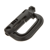 D-shaped D-Ring Strong Carabiner Snap Tactical Backpack Shackle Clip Key Ring Hiking Buckle Black
