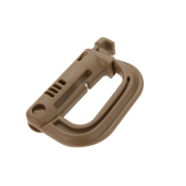 D-shaped D-Ring Strong Carabiner Snap Tactical Backpack Shackle Clip Key Ring Hiking Buckle Earth