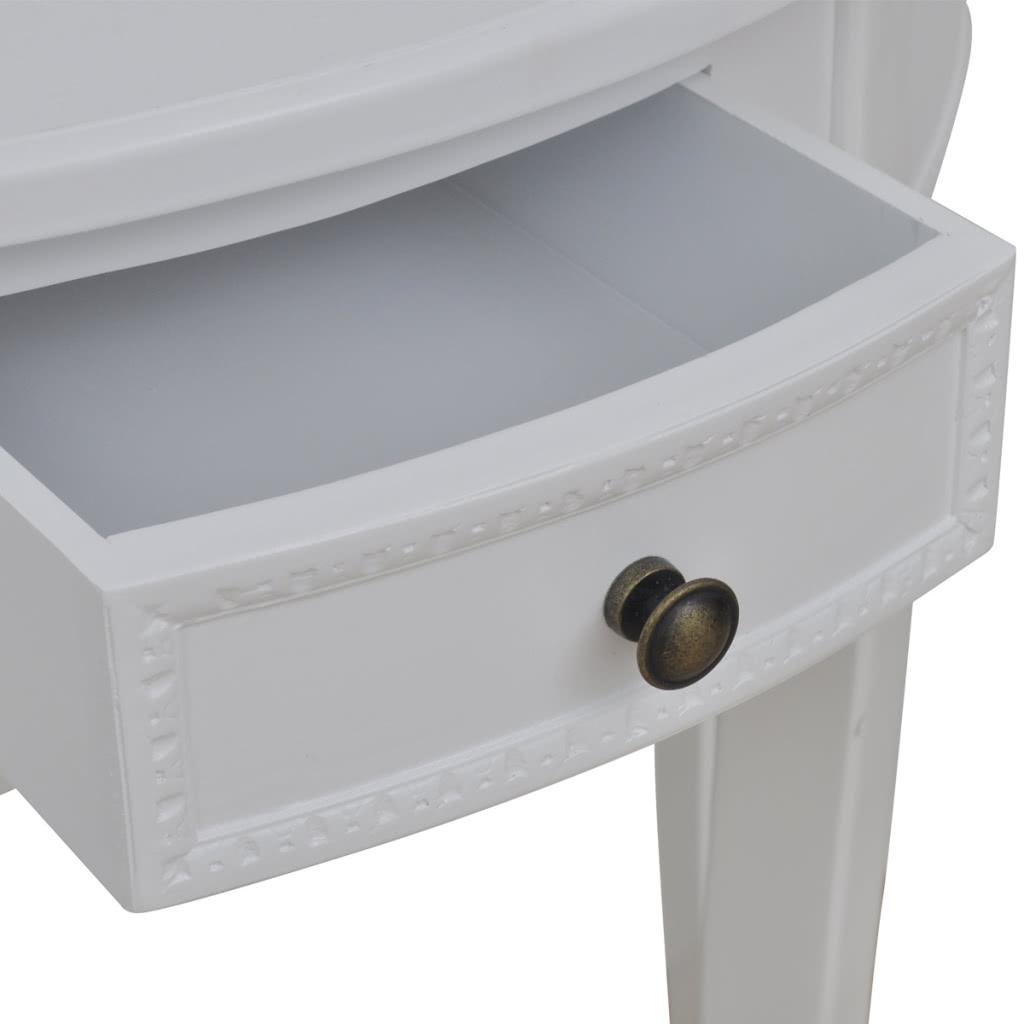 konsolentisch tischkonsole halbrund wei mit. Black Bedroom Furniture Sets. Home Design Ideas