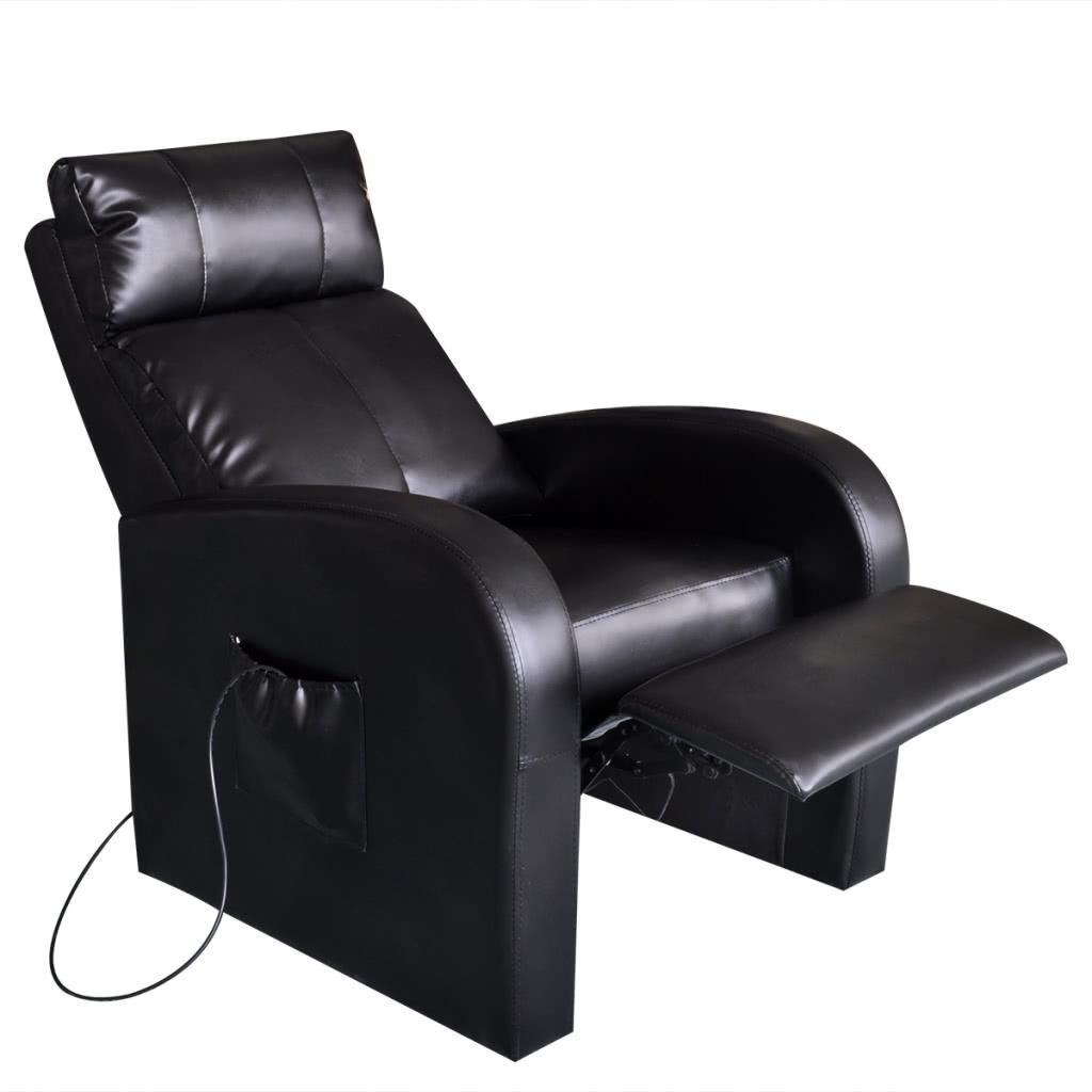 chaise de massage lectrique en cuir artificiel. Black Bedroom Furniture Sets. Home Design Ideas
