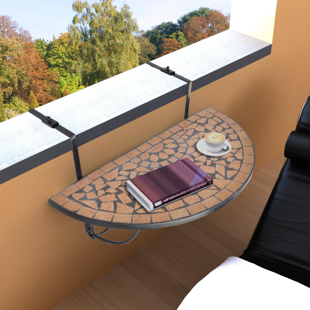 Mosaico varanda tabela de suspens o terracotta for Mobilia domestica