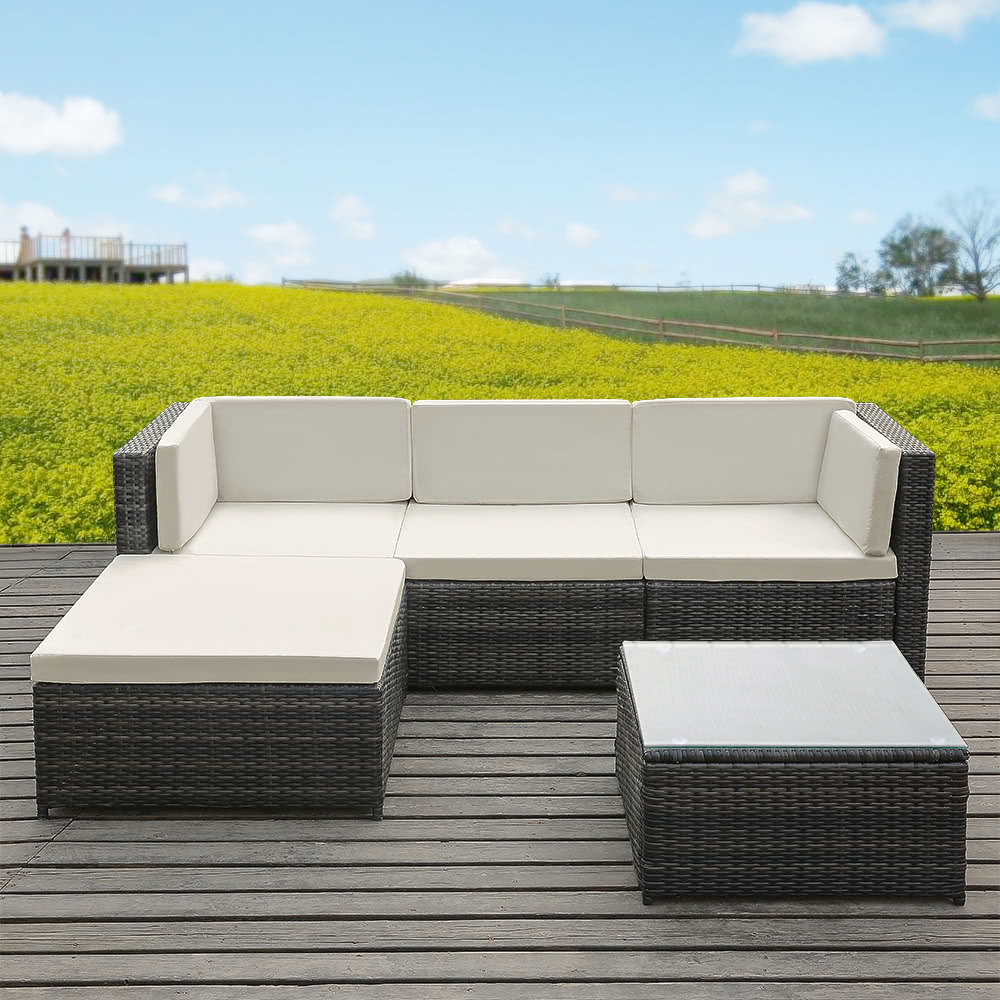 Garden Furniture Sofa Sets ikayaa fashion pe rattan wicker patio garden furniture sofa set