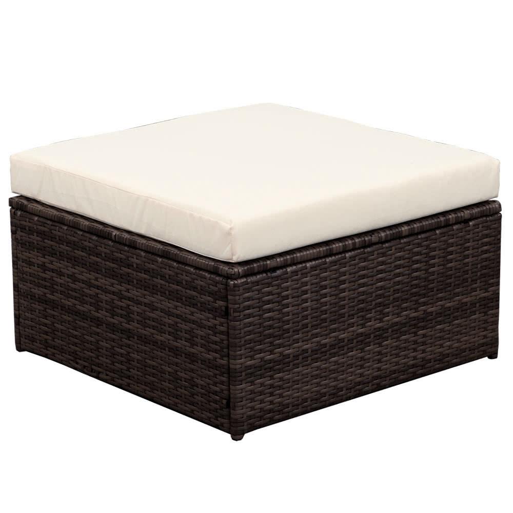 Ikayaa 7pcs meuble de jardin pour patio ext rieur amortis for Meuble de jardin liquidation