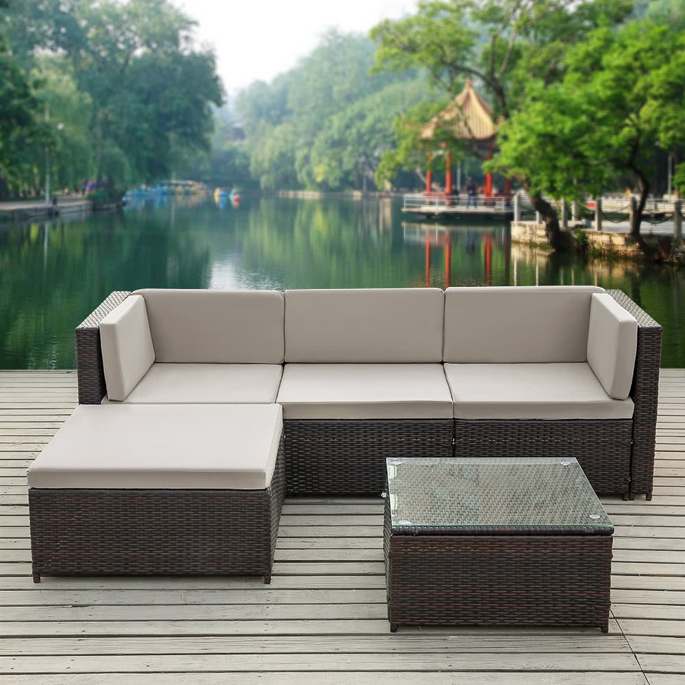 ikayaa fashion pe rattan wicker patio garden furniture sofa set sales online gy tomtopcom