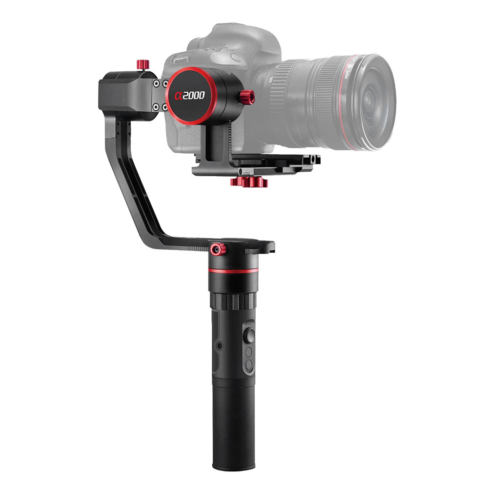 FeiyuTech a2000 3-Axis Single Handheld Gimbal DSLR/Mirrorless Camera Gimbal Stabilizer 3-Axis 360° Rotation Angle Support Time-Lapse Photography for Sony A7 Series for Panasonic GH4, GH5 for Canon 5D and Other Cameras Load Capacity 250g-2000g
