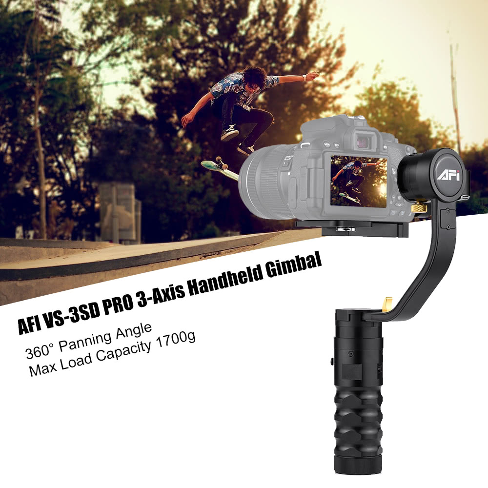 $50 OFF AFI VS-3SD PRO 3-Axis Gimbal,free shipping $312.99(Code:AFIVS3D)