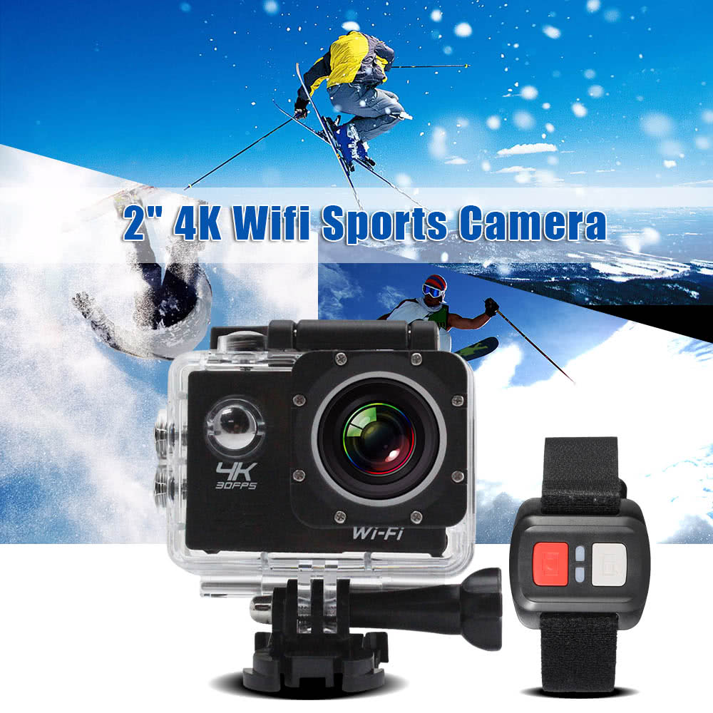 Details about V3 Wifi 4K 30fps 1080P 60fps 16MP Sports Action Camera NEW